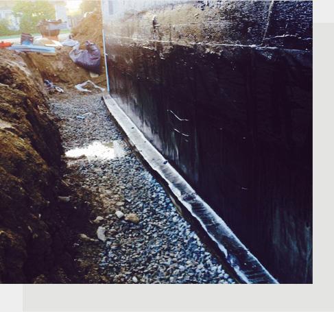 Imperméabilisation des fondations et réparation des fissures