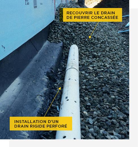 Installation de drain français