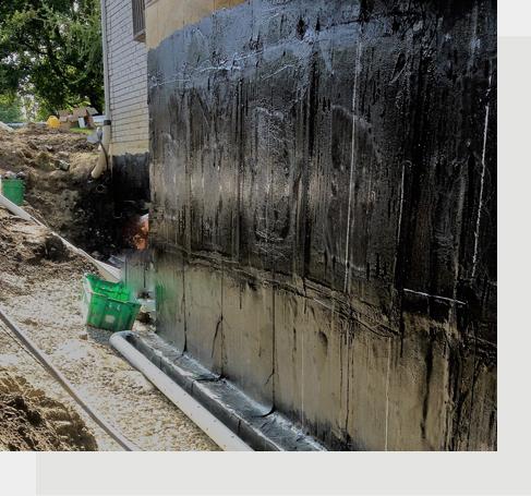 Imperméabilisation des fondations et réparation des fissures à l'époxy